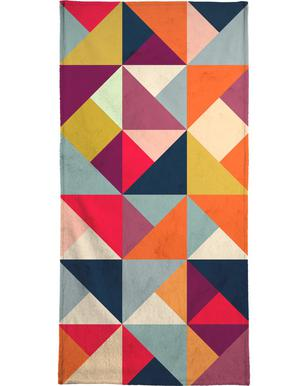 Bright Geometric Happy Pattern Strandhandduk