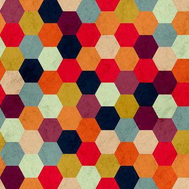 Colorful Beehive Pattern Aluminiumtavla