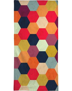 Colorful Beehive Pattern Beach Towel