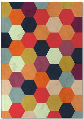 Colorful Beehive Pattern Anteckningsbok