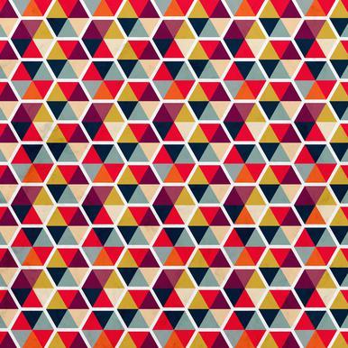 Colorful Umbrellas Geometric Pattern Canvastavla