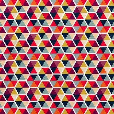 Colorful Umbrellas Geometric Pattern Aluminiumtavla