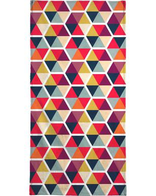 Colorful Umbrellas Geometric Pattern serviette de plage