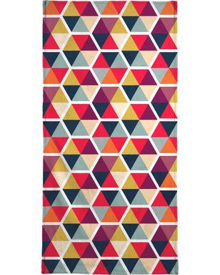 Colorful Umbrellas Geometric Pattern strandlaken
