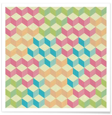SugarCubes Geometric Pattern Poster