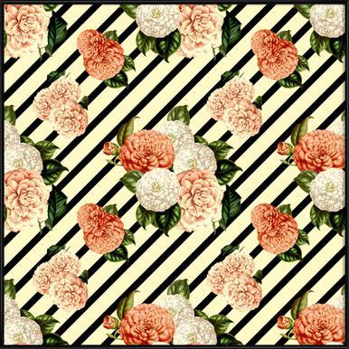 Chrysanthemum Rain -Bild mit Kunststoffrahmen