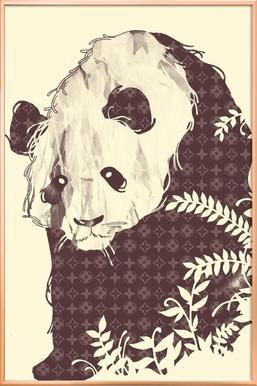 New Brand Panda Poster in Aluminium Frame