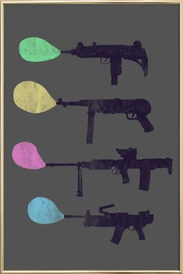 Bubble Guns -Poster im Alurahmen