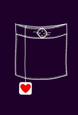 Pocket Full Of Love Aluminium Print