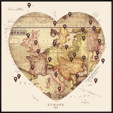 Love To Travel Framed Poster