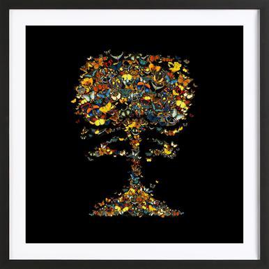 Atomic Butterfly Framed Print