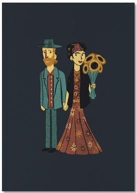 Love Is Art Frida Kahlo and Van Gogh Notebook