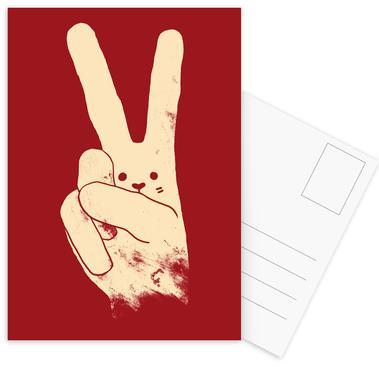 Love, Peace and Carrots Postcard Set