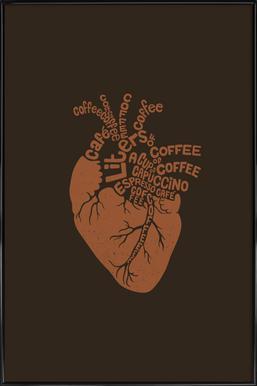 Coffee Lover Heart Poster i standardram