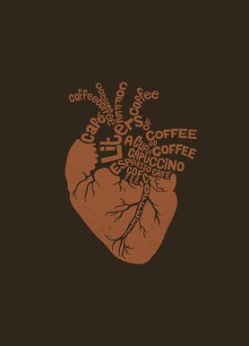 Coffee Lover Heart Canvastavla