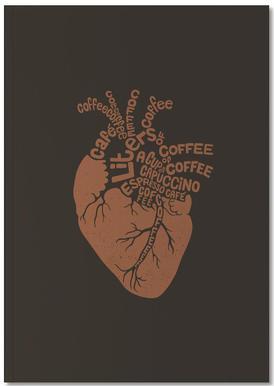 Coffee Lover Heart Anteckningsbok