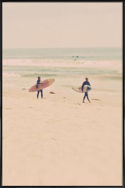 Two Surfers Framed Poster