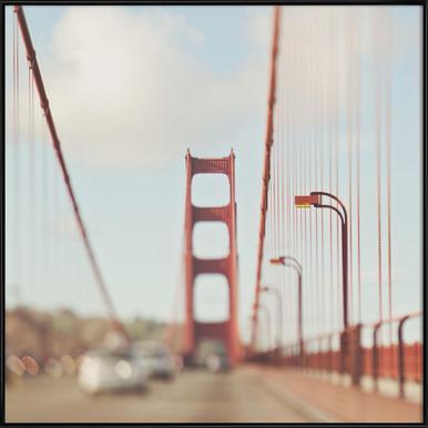 A Memory San Francisco -Bild mit Kunststoffrahmen