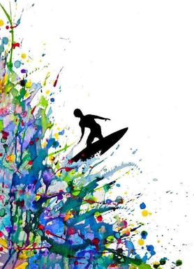 A Pollock's Point Break Canvas Print