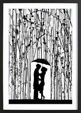 Film Noir affiche sous cadre en bois