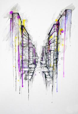 This City Sleeps tableau en verre