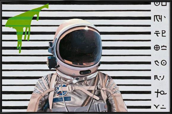 Mugshot -Bild mit Kunststoffrahmen