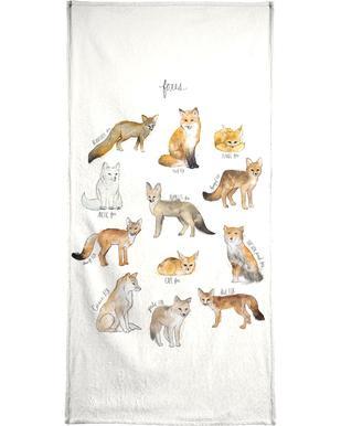 Foxes handdoek