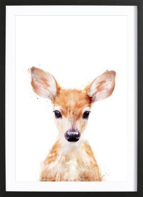 Little Deer -Bild mit Holzrahmen