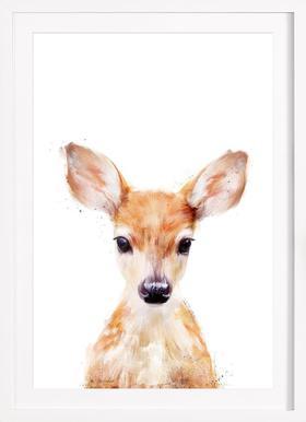 Little Deer - Poster in Wooden Frame
