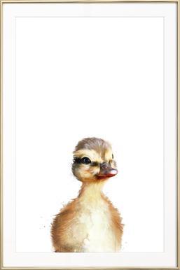 Little Duck - Affiche sous cadre en aluminium