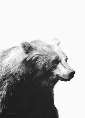 Calm Black and White Canvas Print