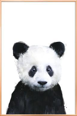 Little Panda poster in aluminium lijst