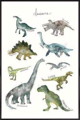 Dinosaurs ingelijste poster