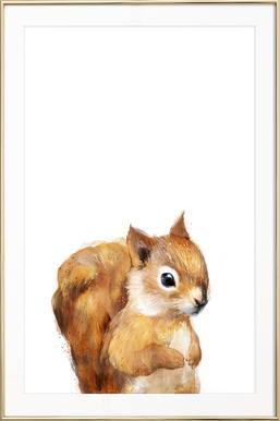 Little Squirrel - Affiche sous cadre en aluminium