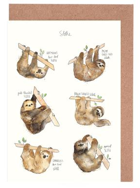 Sloths -Grußkarten-Set