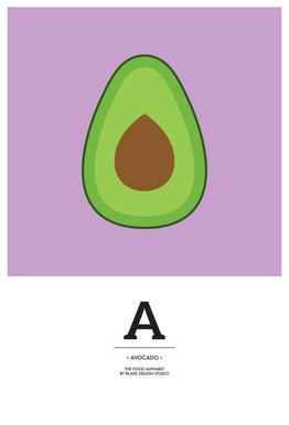 """The Food Alphabet"" - A like Avocado Acrylic Print"