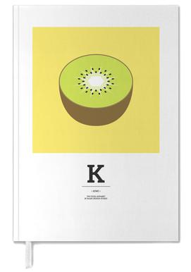 """The Food Alphabet"" - K like Kiwi Personal Planner"