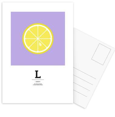 """The Food Alphabet"" - L like Lemon cartes postales"