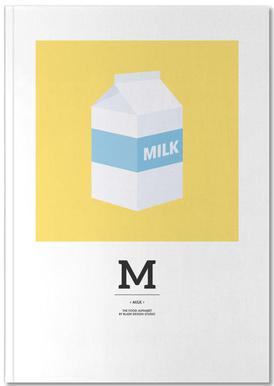 """The Food Alphabet"" - M like Milk Notebook"