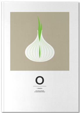"""The Food Alphabet"" - O like Onion Notebook"