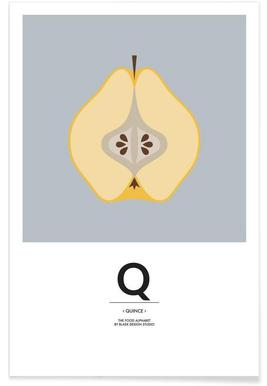 """The Food Alphabet"" - Q like Quince Poster"