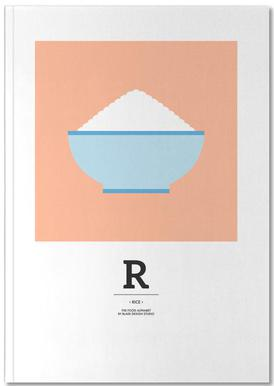 """The Food Alphabet"" - R like Rice Notebook"