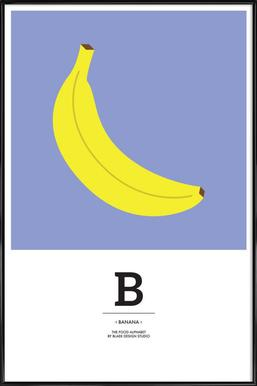 """The Food Alphabet"" - B like Banana - Affiche sous cadre standard"