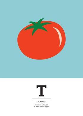 """The Food Alphabet"" - T like Tomato Canvas Print"