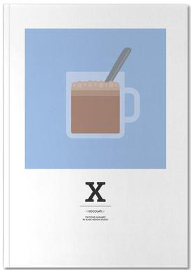 """The Food Alphabet"" - X like Xocolatl Notebook"