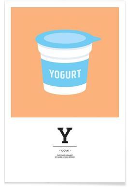 """The Food Alphabet"" - Y like Yogurt Poster"
