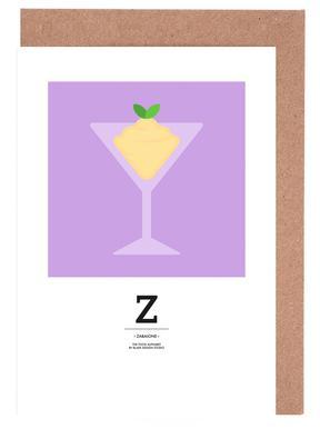 """The Food Alphabet"" - Z like Zabaione Greeting Card Set"