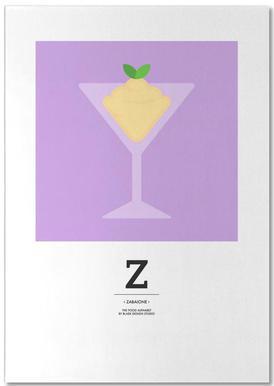 """The Food Alphabet"" - Z like Zabaione Notepad"