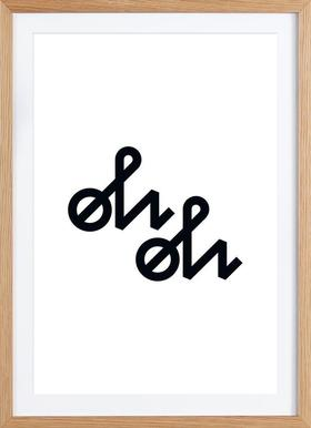 Oh Oh - Poster in Wooden Frame