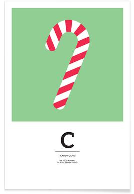 Food Alphabet Xmas Edition C -Poster